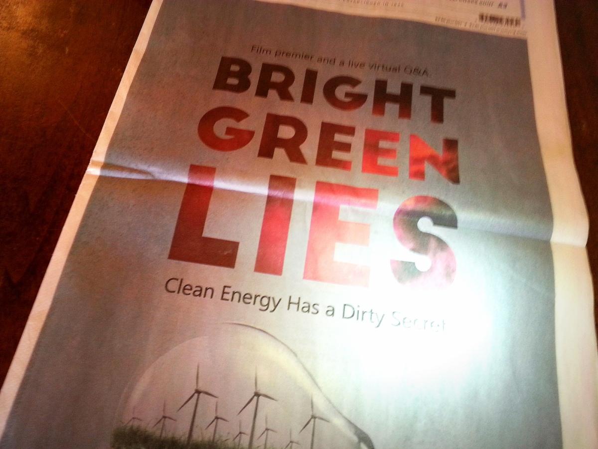 Bright Green Lies, or halftruths?